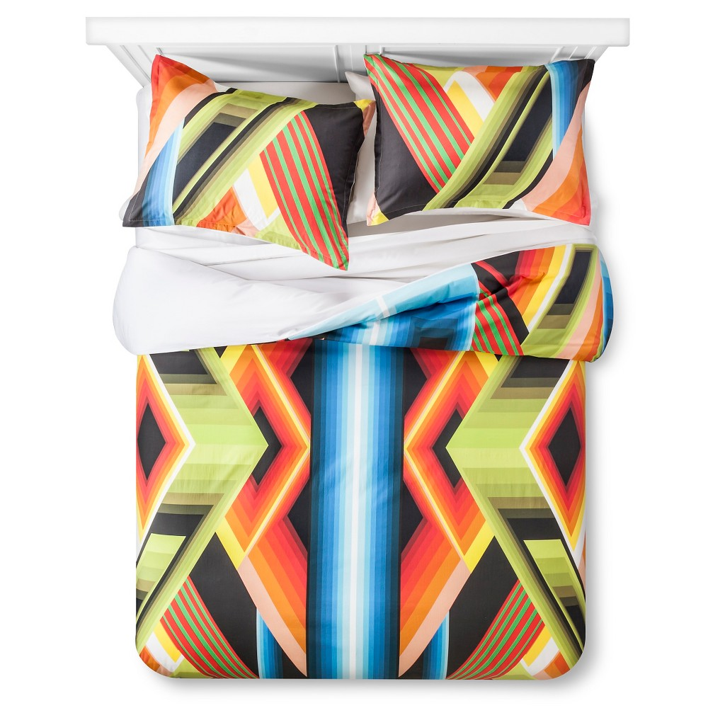 Image of Artwork Series: 'Design 8' by James Marshall Duvet Cover Set (Full/Queen) - AiR