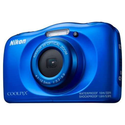 Nikon® COOLPIX W100 Action Camera - Blue (26516) - image 1 of 6