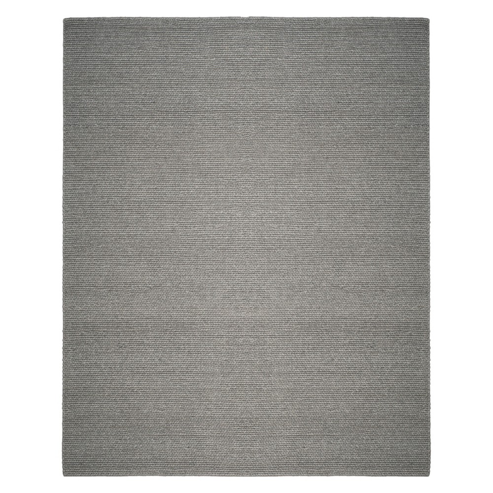 8'X10' Solid Woven Area Rug Steel (Silver) - Safavieh