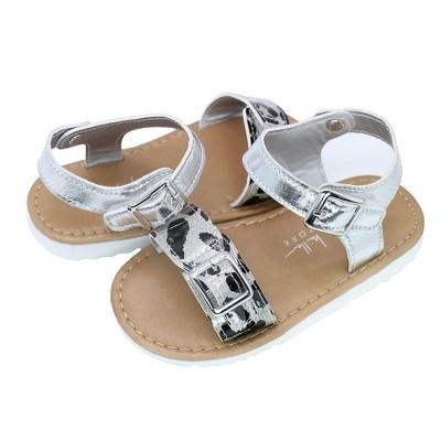 Nicole Miller Toddler Girls' Leopard Hardsole Sandals
