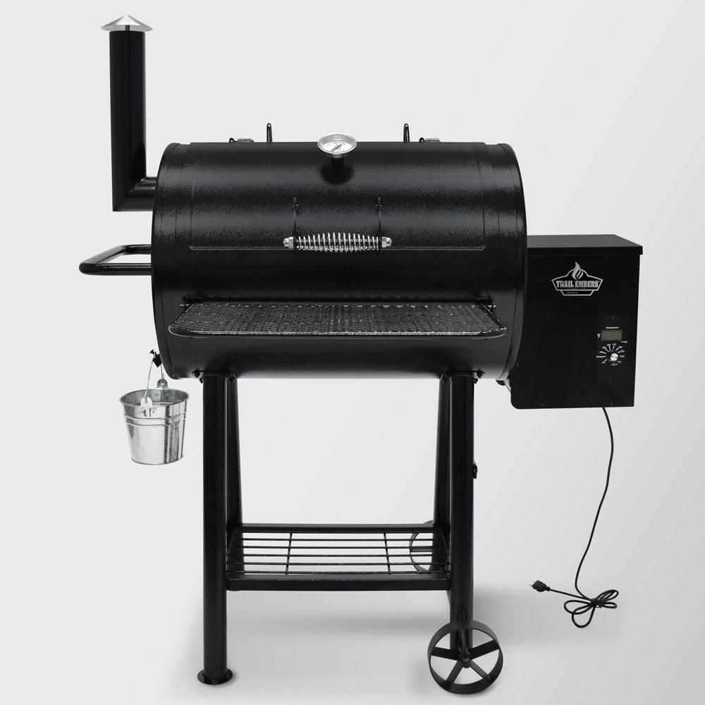 Image of Pellet Smoker & Grill SMK8028AS Black - 3 Embers