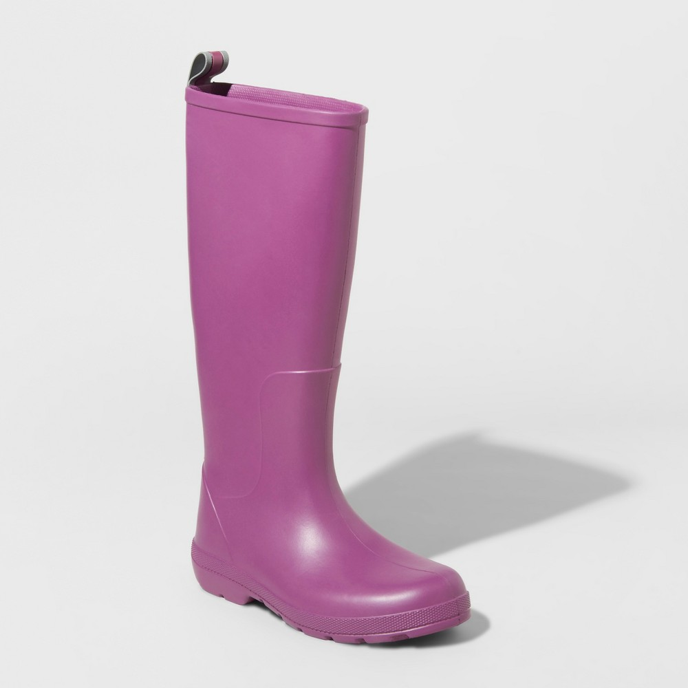 Image of Women's Totes Cirrus Claire Tall Rain Boots - Purple 5