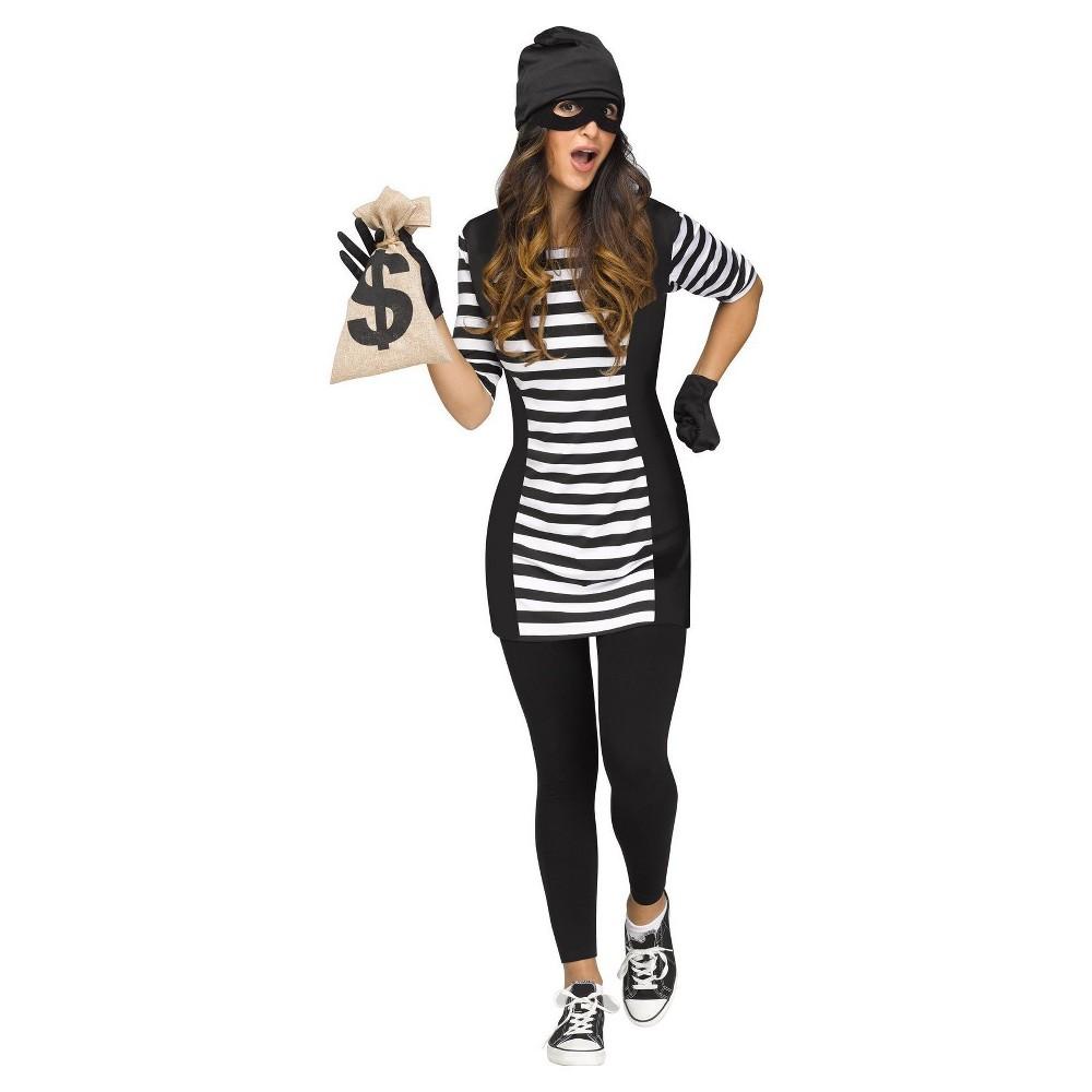 Women's Burglar Babe Adult Costume Medium/Large, Multicolored