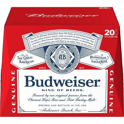 Budweiser Lager Beer - 20pk/12 fl oz Bottles