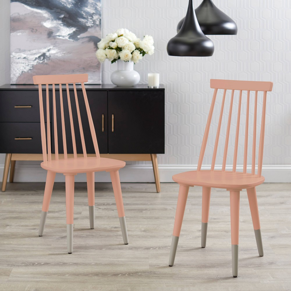 Image of Set of 2 Hermosa Dining Chair - Pink - Angelo:Home