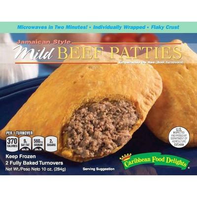 Caribbean Food Delights Jamaican Style Mild Frozen Beef Patty - 10oz