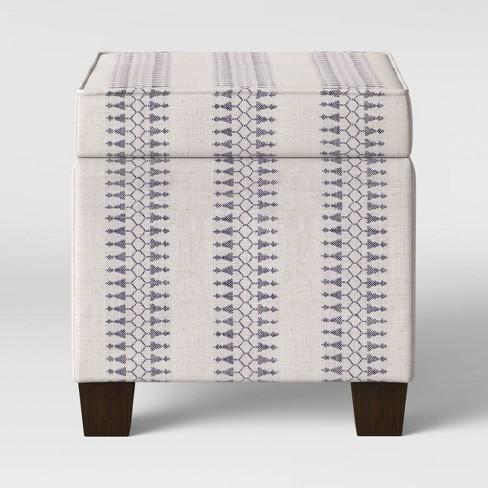 Outstanding Fairland Square Storage Ottoman Threshold Machost Co Dining Chair Design Ideas Machostcouk