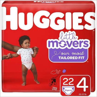 Huggies Little Movers Diapers - Size 4 (22ct)