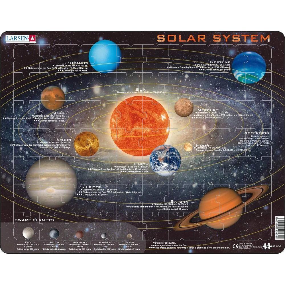 Springbok Larsen Solar System Children's Educational Jigsaw Puzzle 70pc