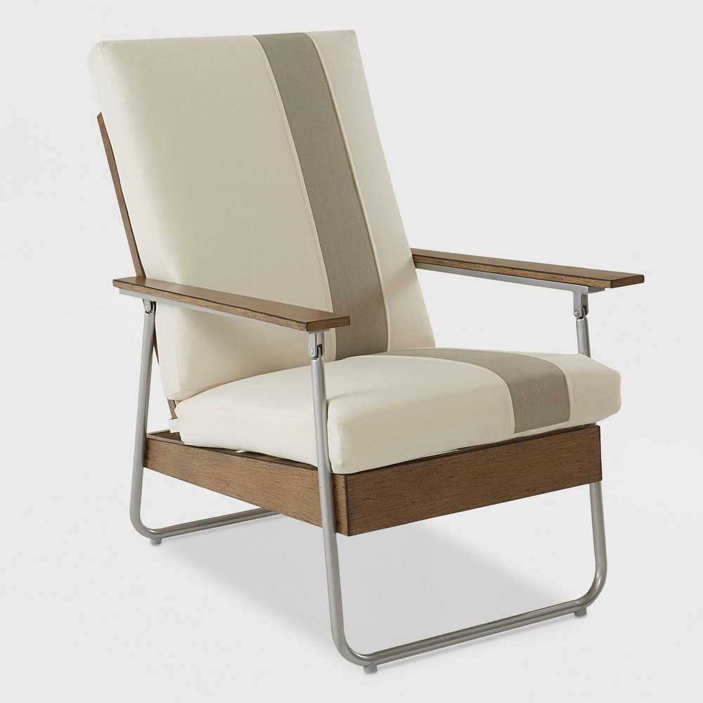 Lila Patio Lounge Chair - Tan - Novogratz, White