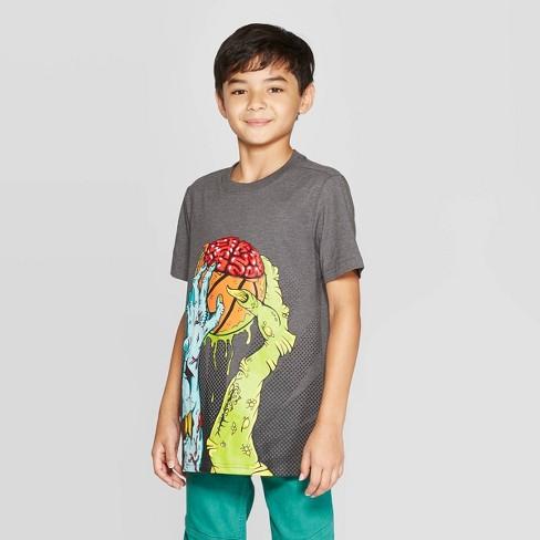 Boys' Graphic Short Sleeve T-Shirt - Cat & Jack™ Black - image 1 of 3