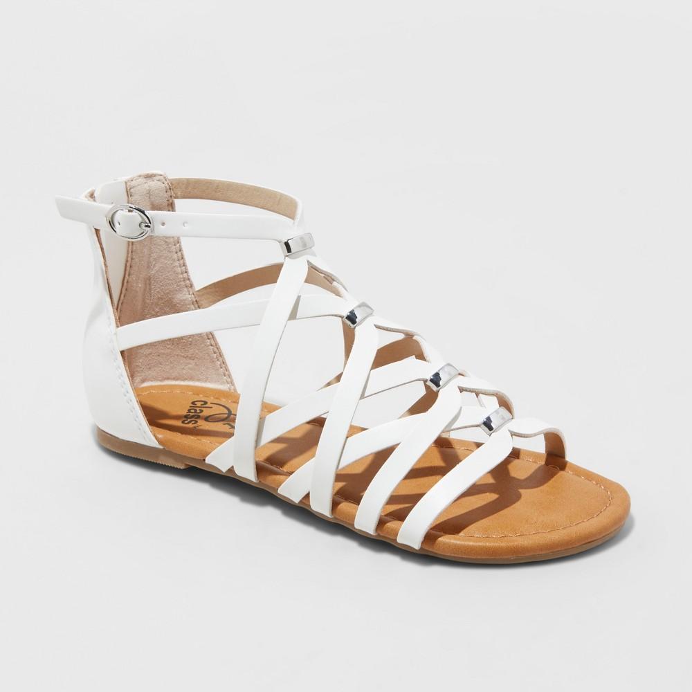 Image of Girls' Freya Gladiator Sandals - art class White 3, Girl's