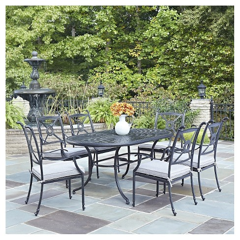 "Home Style Athens 7 - Piece 71"" Patio Dining Set - Charcoal Finish - image 1 of 1"