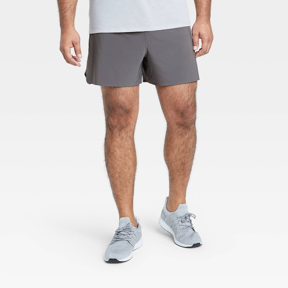 Men 39 S 5 34 Lined Run Shorts All In Motion 8482 Charcoal Xxl