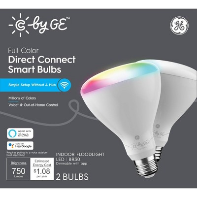 General Electric 2pk BR30 LED Light Bulbs