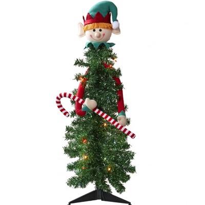 "Lakeside Small Prelit Elf Christmas Tree - 3' x 36"""