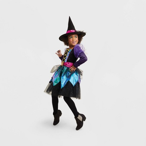 Girls' Iridescent Witch Halloween Costume - Hyde & EEK! Boutique™ - image 1 of 1