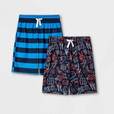 Boys' 2pk Striped & Doddle Print Pajama Set - Cat & Jack™ Navy