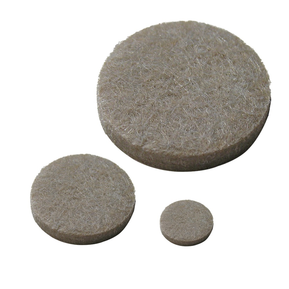 Magic Felt Value Pack 132-pk. Perfect for furniture - chairs and sofas - that damage floorsand small objects, like lamps, computer equipment, and appliances that ruin table-tops and desks.