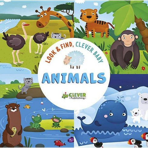Animals - (Look & Find, Clever Baby) (Board_book) - image 1 of 1