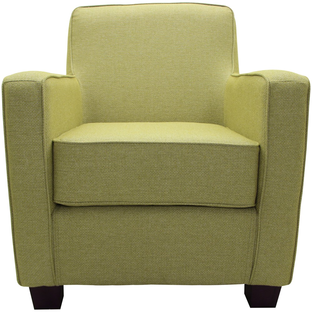 Johnson Stain Resistant Oversize Arm Chair Green - Fox Hill Trading
