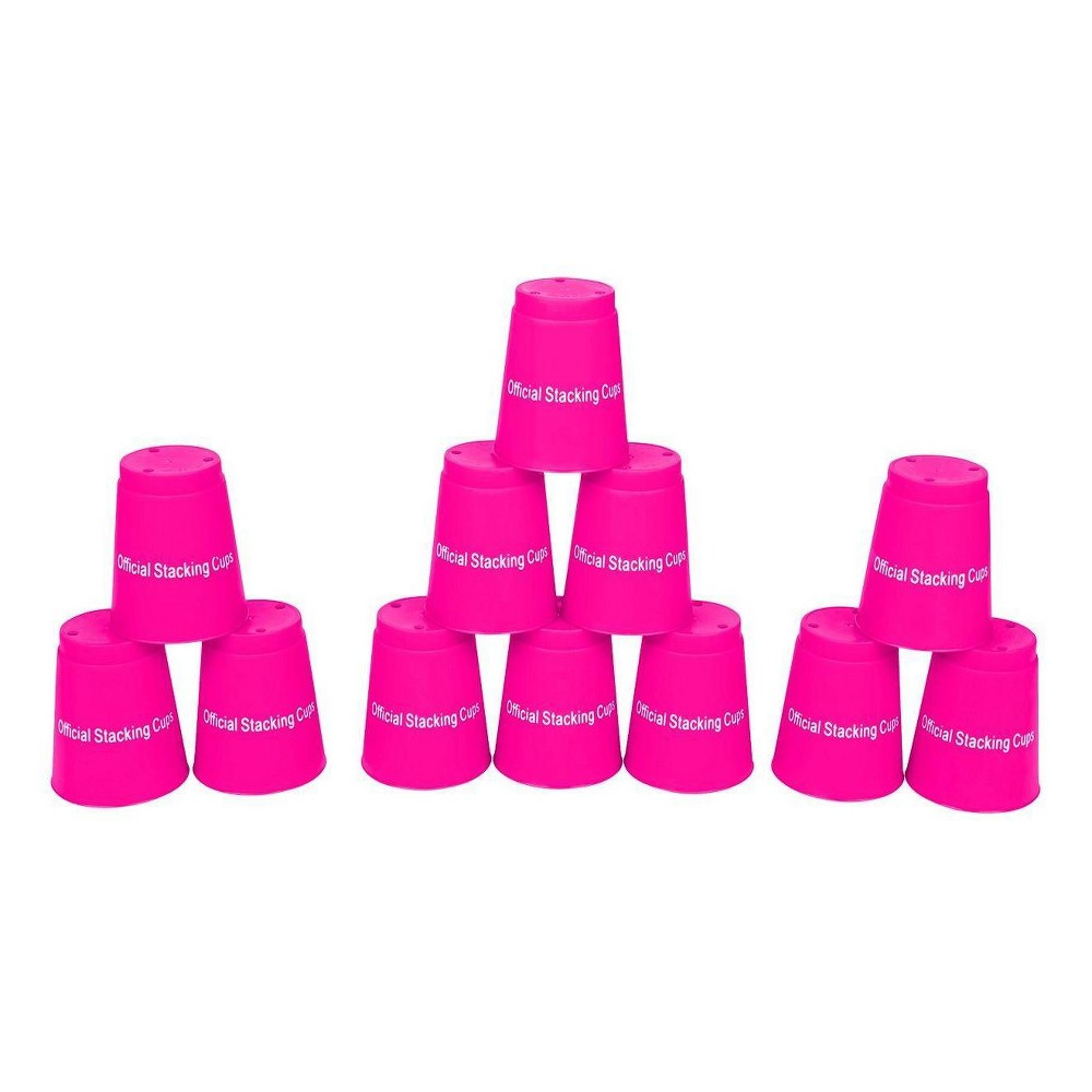 Trademark Innovations Quick Stack Cups - Pink (Set of 12)