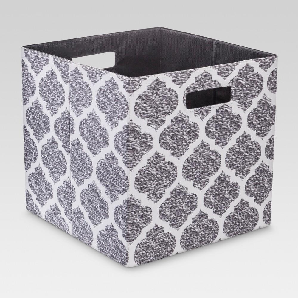 13 34 Fabric Cube Storage Bin Light Gray Threshold 8482