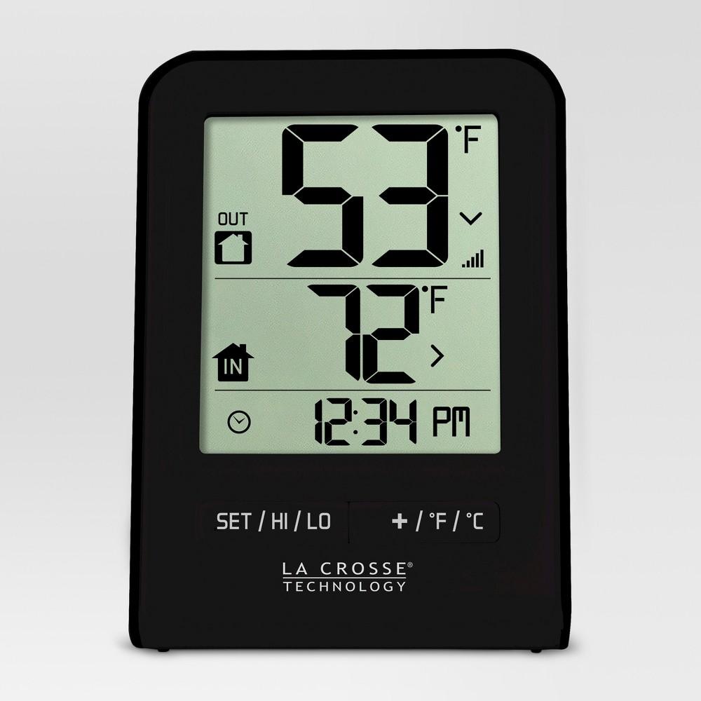 2.63 H Wireless Digital Thermometer - Black - La Crosse Technology