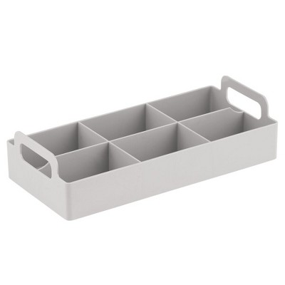 mDesign Compact Plastic Tea Storage Organizer Caddy Tote