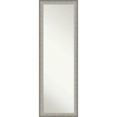 "17"" x 51"" Elegant Brushed Framed On the Door Mirror Pewter - Amanti Art"