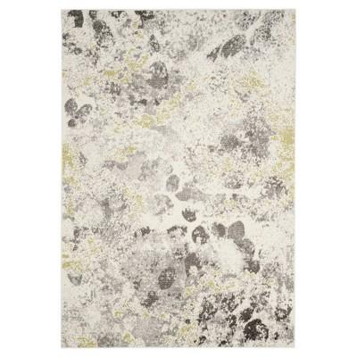 Ivory/Gray Splatter Loomed Area Rug 5'3 X7'6  - Safavieh