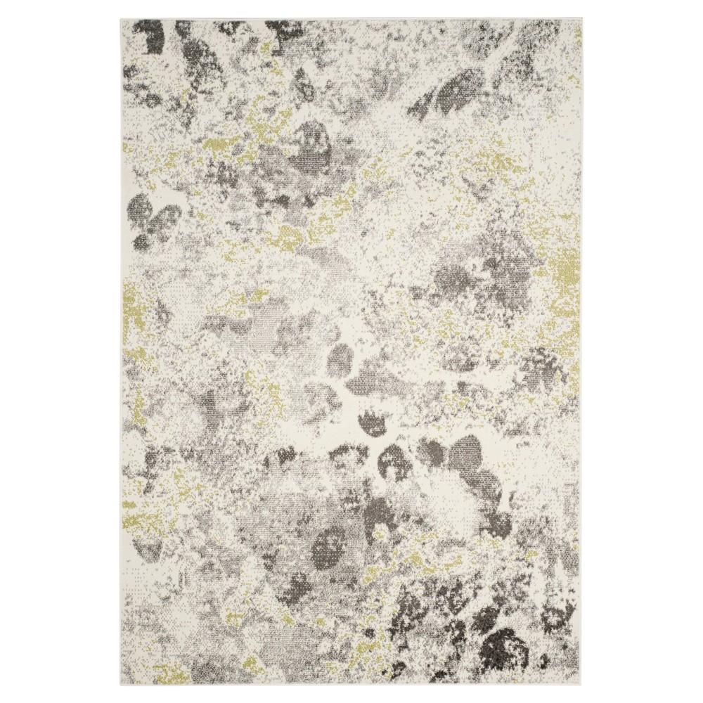 Ivory/Gray Splatter Loomed Accent Rug 4'X6' - Safavieh