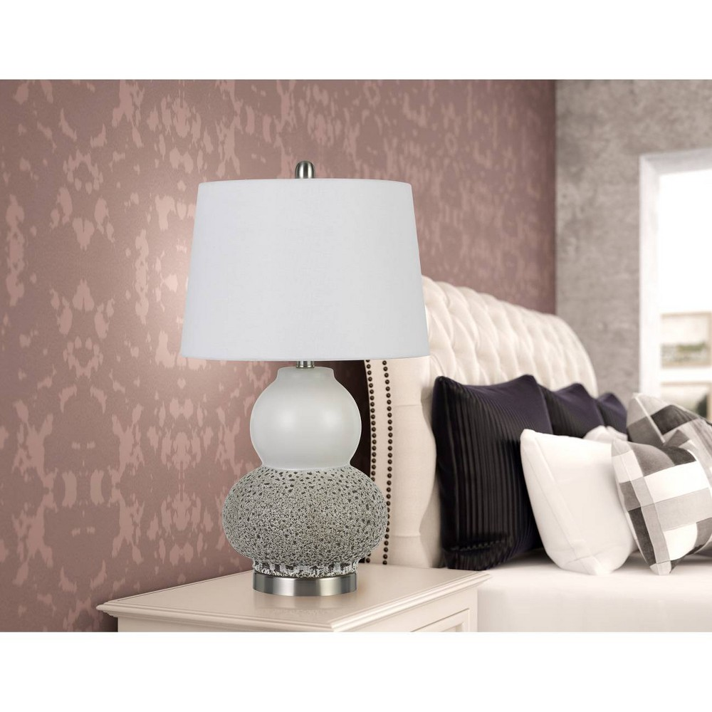 Image of 100W Aigio Ceramic Table Lamps Gray (Set Of 2) (Lamp Only) - Cal Lighting