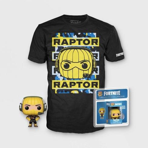 5fbf077a Kids Mini POP!+T-Shirt Fortnite: Raptor - Black : Target