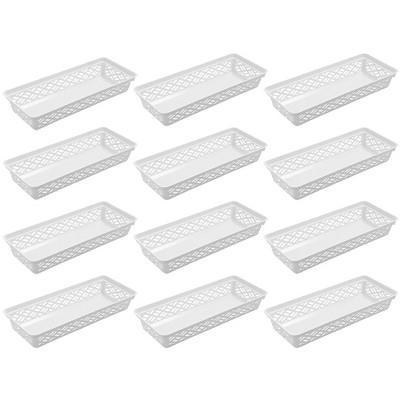 Ezy Storage 32135 Long Brick or Plastic Household Organization Basket, (12 Pack)