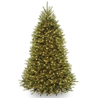 6.5ft National Christmas Tree Company Pre-Lit Dunhill Fir Christmas Tree with 650 Clear Lights & Powerconnect