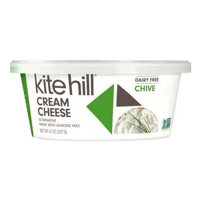 Kite Hill Chive Almond Milk Cream Cheese Spread - 8oz