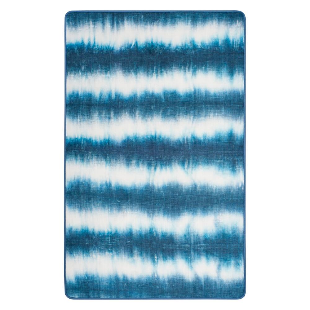 3'X5' Tie Dye Design Loomed Accent Rug Ivory/Blue - Safavieh, White