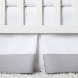 Crib Skirt Pleated - Cloud Island™ Gray
