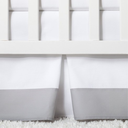 Crib Skirt Pleated Cloud Island Gray Target