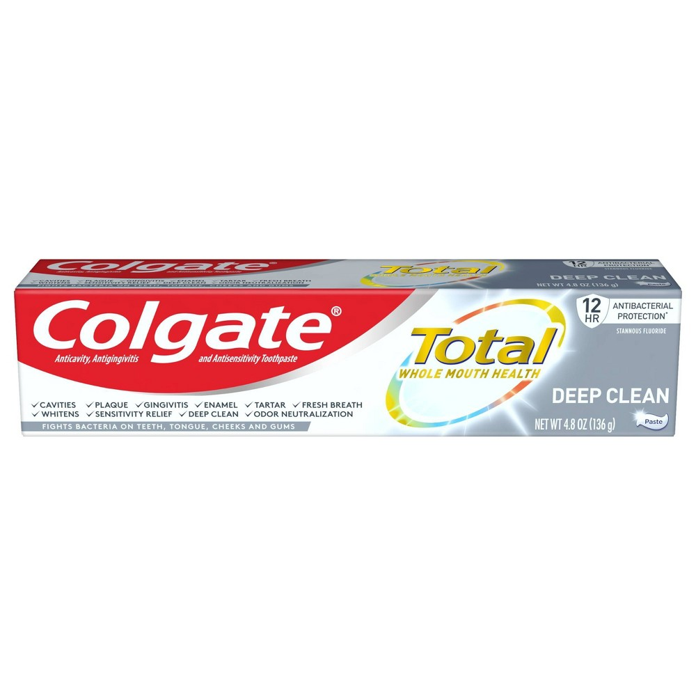 Colgate Total Deep Clean Toothpaste For Gingivitis Protection On Gums With Sensitivity Relief 4 8oz