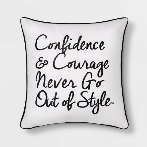 """Boy Meets Girl Confidence & Courage 18""""x18"""" Throw Pillow - image 1 of 8"""