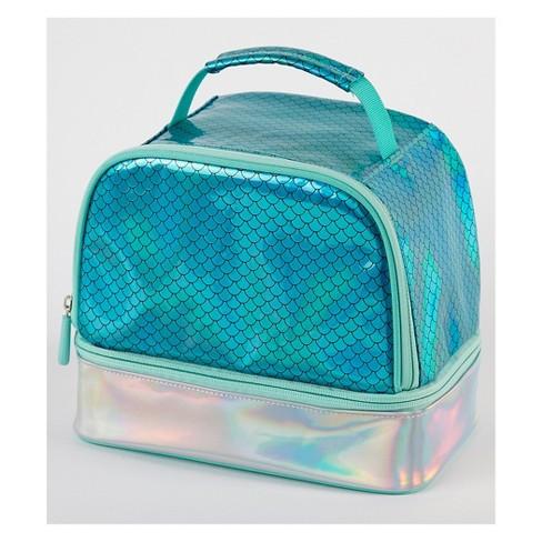 Mermaid Dual Compartment Lunch Bag - Blue
