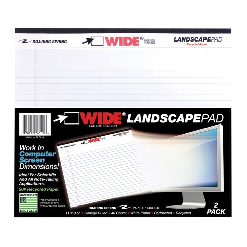 Roaring Legal Pad, 11 x 9-1/2 Inches, White, 40 Sheets, pk of 2 - image 1 of 1