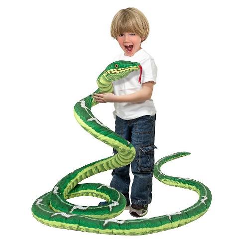 Melissa & Doug Giant Boa Constrictor - Lifelike Stuffed Animal Snake, 14' long - image 1 of 4