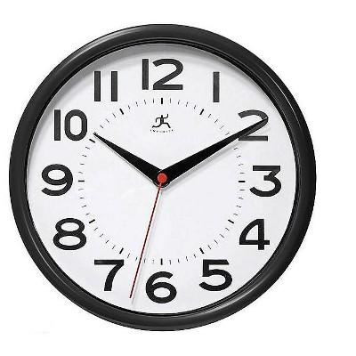 """Infinity Instruments Metro Wall Clock 9""""Dia. (14220BK-3364) 949659"""