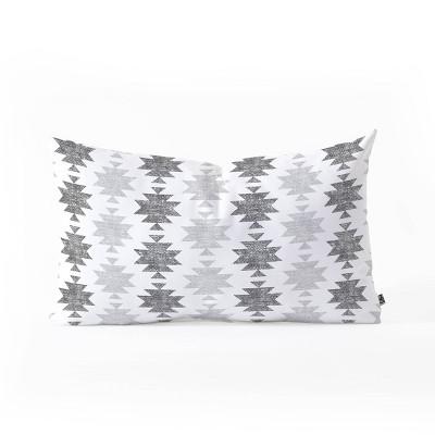 Little Arrow Design Co Aztec Oblong Throw Pillow -Deny Designs