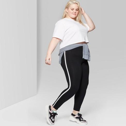 5057b98365b Women s Plus Size Short Sleeve Crewneck Football T-Shirt - Wild Fable™