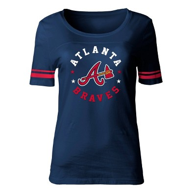 MLB Atlanta Braves Women's Poly Rayon Fashion T-Shirt