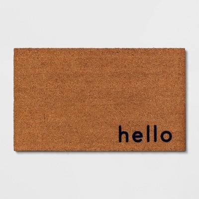 Hello Door Mat Blue/Beige - Project 62™